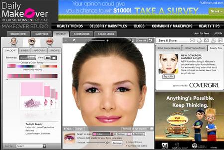 Juega a cambiarte el look con Daily Makeover