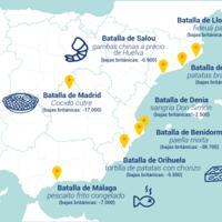 El mapa de la guerra gastronómica entre España y Reino Unido: así nos estamos matando los unos a los otros