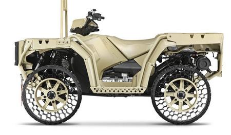 Los neumáticos sin aire de Polaris llegarán al mercado en 2014
