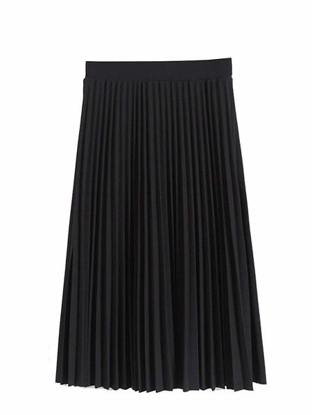 Falda Plisada Negra