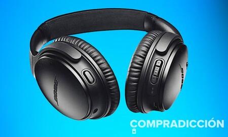 Chollazo: nunca habíamos visto tan baratos los auriculares Bose QuietComfort 35 II. Amazon los tiene por 169,92 euros