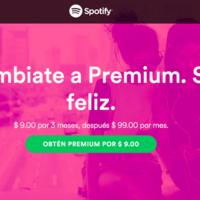 No hay pretextos, tres meses de Spotify Premium por sólo 9 pesitos