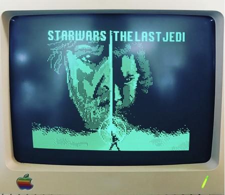 Alguien tuvo la genialidad de recrear el tráiler de 'Star Wars: The Last Jedi' en un Apple IIc y es toda una belleza