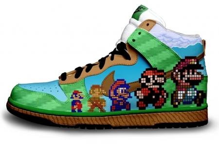 Foto de Zapatillas pintadas con personajes de videojuegos (1/9)