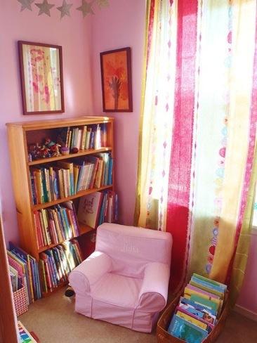 Una buena idea: un rincón de lectura para niños