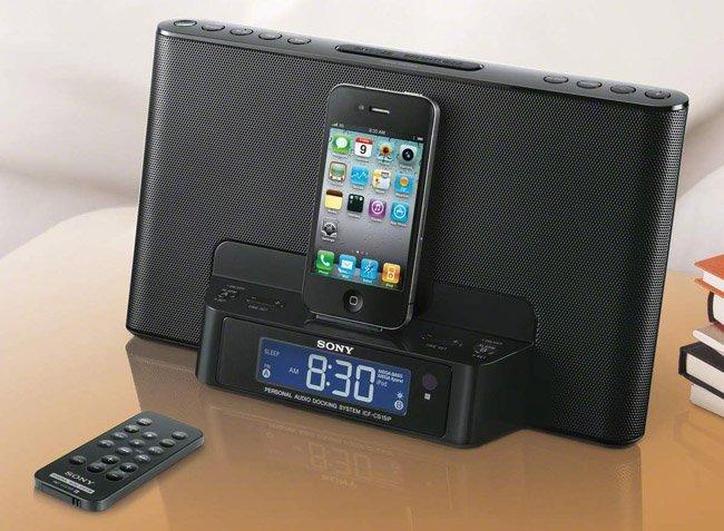 Sony actualiza sus bases despertadoras para terminales Apple