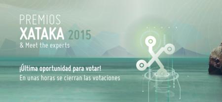 Última oportunidad para votar en los Premios Xataka 2015