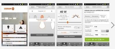Osram Light Finder, aplicación para encontrar la bombilla ahorradora más adecuada