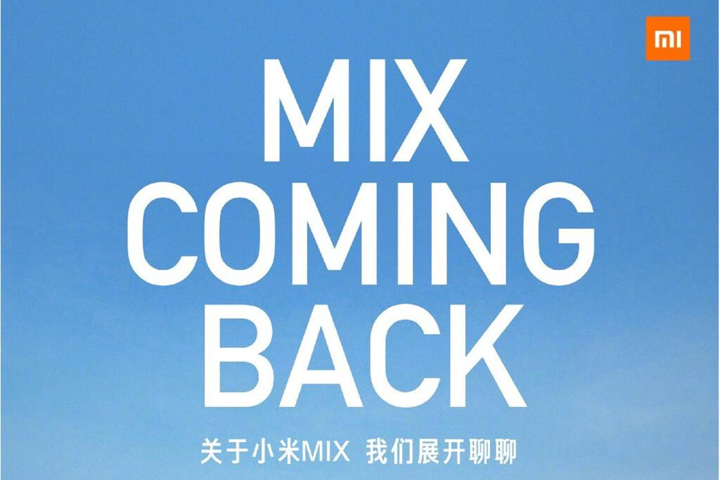 Vuelve el Xiaomi Mi Mix: conoceremos al nuevo miembro de la serie la semana que viene