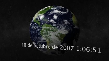 EarthClock: Salvapantallas de la Tierra en 3D desde el espacio