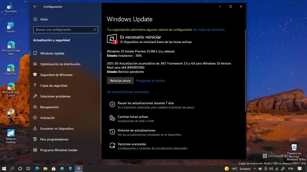 Microsoft lanza la Build 21390.1 ofreciendo nuevo diseño(layout) en algunos iconos, mejoras en el manera oscuro y más