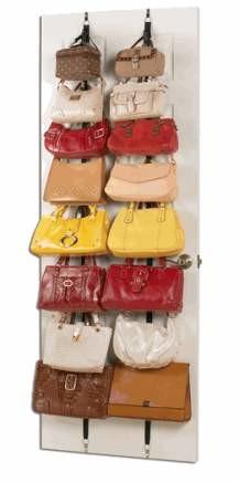 Organiza tus bolsos tras la puerta