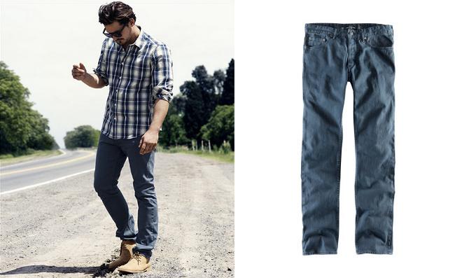 Pantalon chino azul H&M