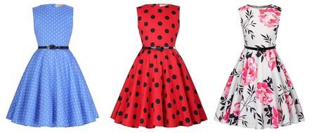 Vestidos para niña Kate Kasin de estilo vintage con gran variedad de estampados desde 13,99 euros en Amazon
