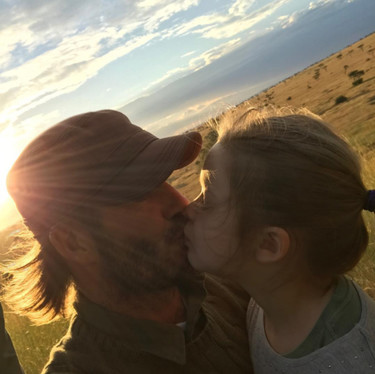 David Beckham besa a su hija de 5 años y a algunas personas les parece perturbador