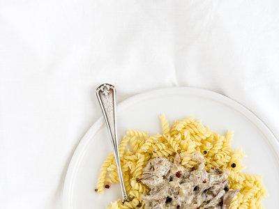 Pasta con salsa de setas. Receta