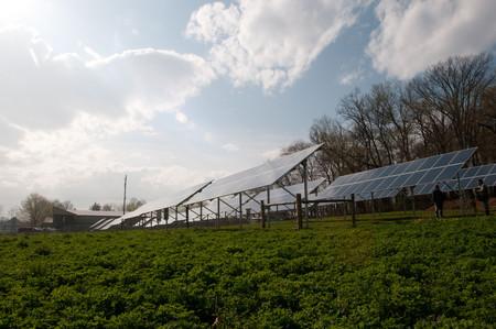 Agricultura con instalación solar
