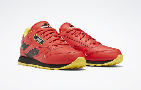 Classic Leather Jurassic Park Radiant Red / Coal / Blaze Yellow