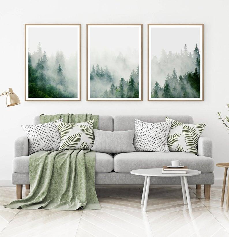 3 pósters bosques nórdicos