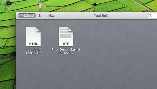 icloud mac os x mountain lion textedit
