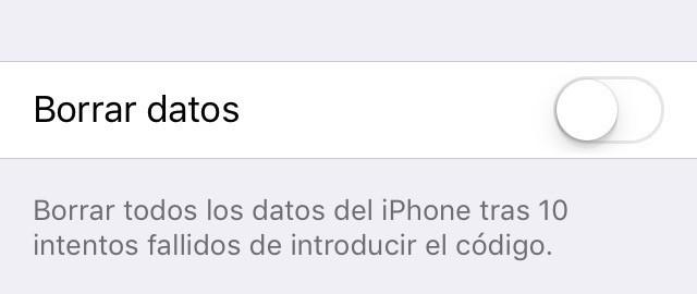 borrar iOS