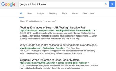 Google tiñe de negro la web con su experimento: ¿adiós al azul en los enlaces de su buscador?