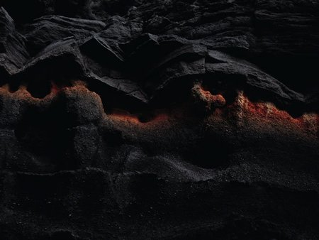 foto microscopica de roca volcanica