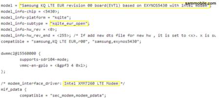 Samsung KQ leaked