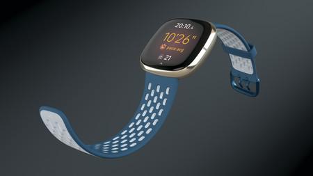 Fitbit Sense Sapphire Fog Grey Sport Crop Center