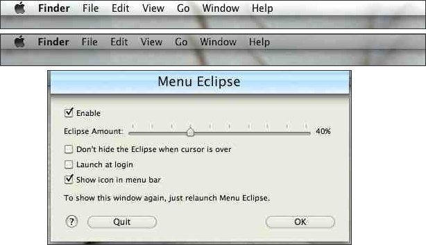 Menu Eclipse