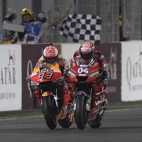 La victoria de Ducati en Catar sigue generando polémica: Dovizioso adelantó a Márquez con bandera amarilla
