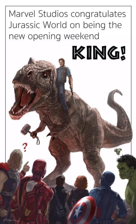 Marvel felicita a Jurassic World