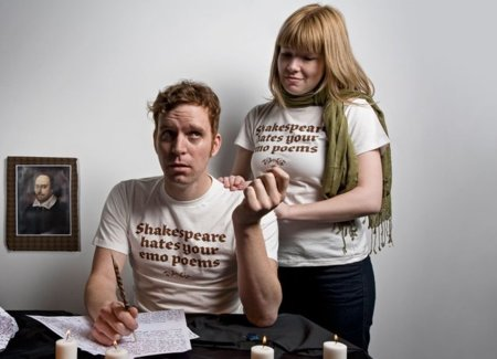 Camiseta poemas emo