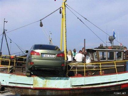 Coche en ferry