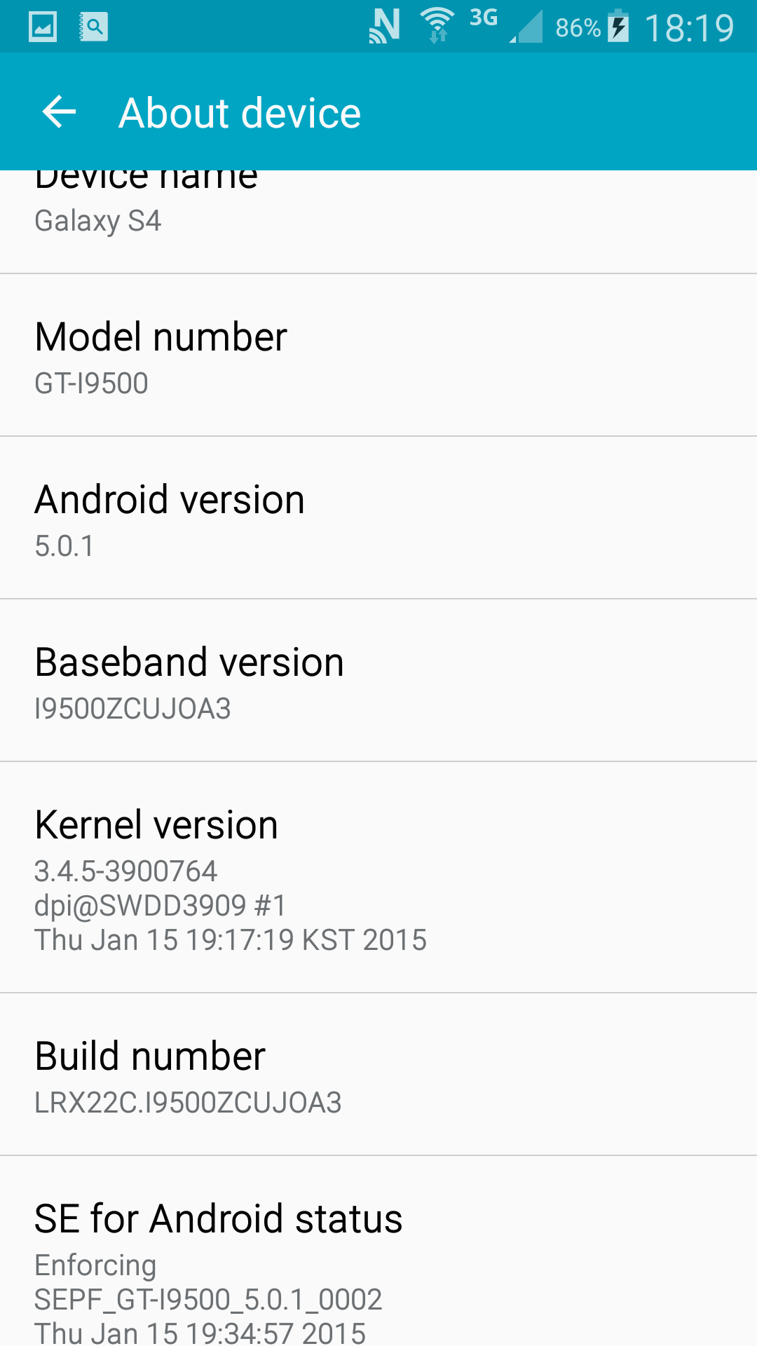 Galaxy S4 Lollipop
