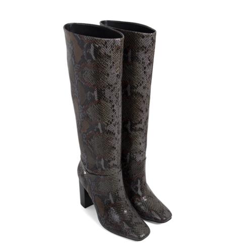 Botas altas de mujer Gioseppo Woman en gris con print serpiente