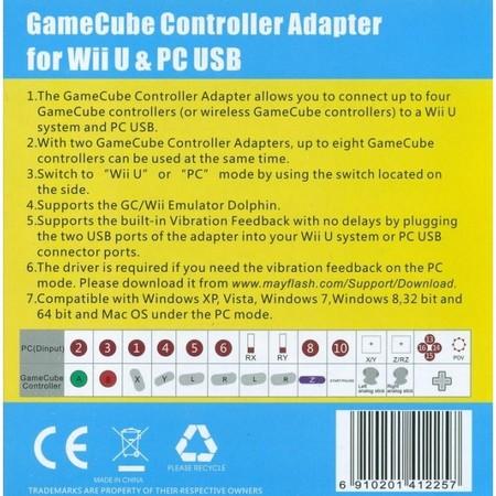 Nuevo Adaptador De Gamecube Para Wii U Con Soporte Para Cuatro Mandos 02