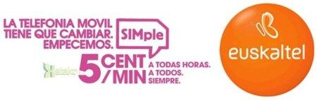 Nueva tarifa SIMple de Euskaltel: 5 céntimos/minuto a todos para siempre
