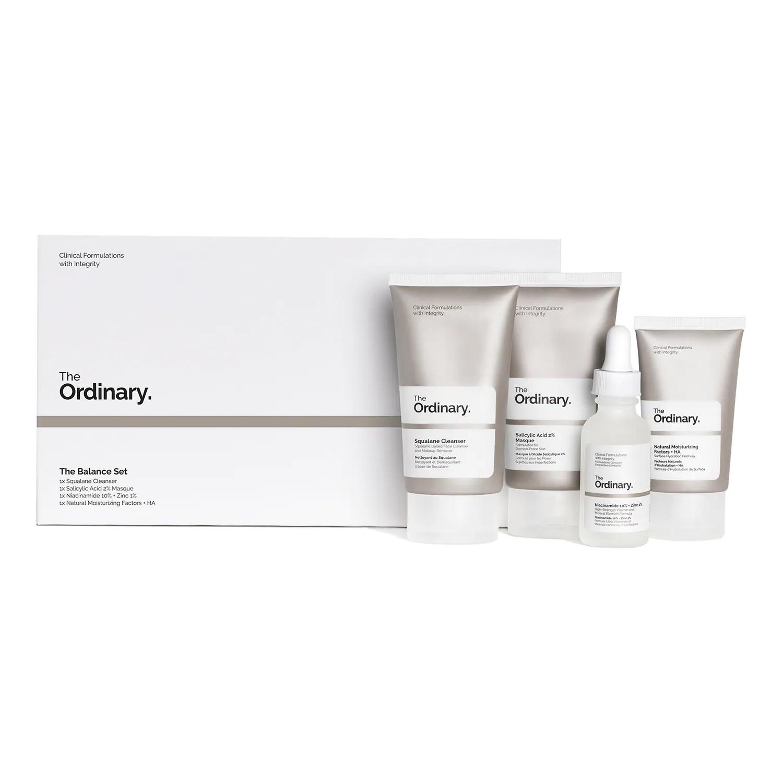 Cofre con tratamiento facial hidratante y unificante de The Ordinary