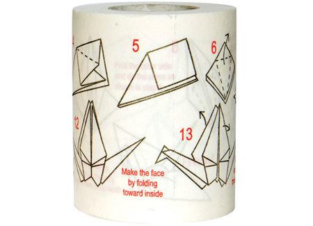 Papel higiénico para hacer origami