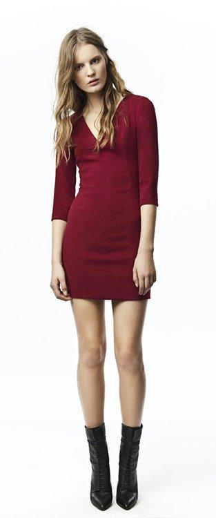 Vestido rojo Zara Trafaluc colección octubre