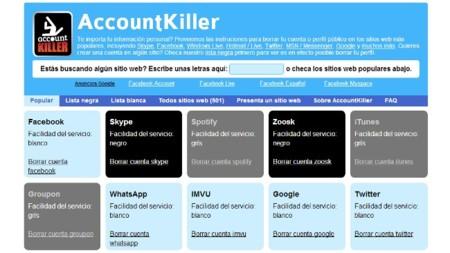Averigua como eliminar tu cuenta con AccountKiller