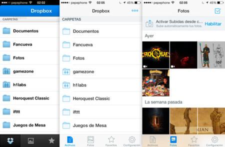 Dropbox 3.0 con un nuevo diseño para iOS 7 y soporte de AirDrop