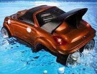 Un nuevo juguete: el coche anfibio