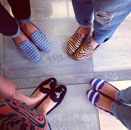 Elena Perminova Instagram slippers