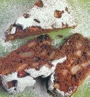 Tarta integral de pera con cacao
