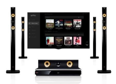 Spotify también se apunta a los sistemas de sonido y vídeo de LG