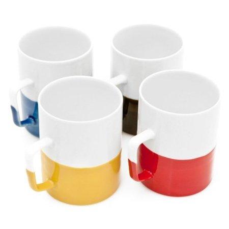 Tazas bicolores para el cafetero minimalista