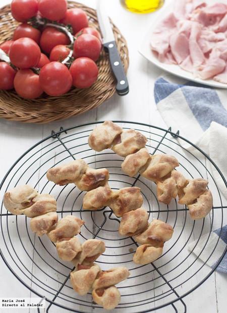 Espigas de pan rellenas de bacon. Receta