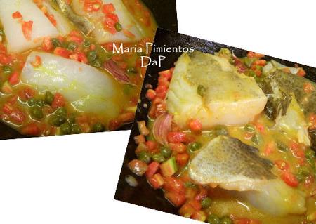 Bacalao con tomate y alcaparras